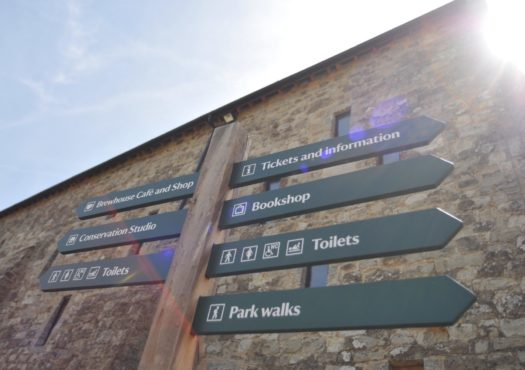 Signpost at a National Trust property