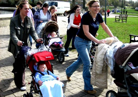 A group of mums walking