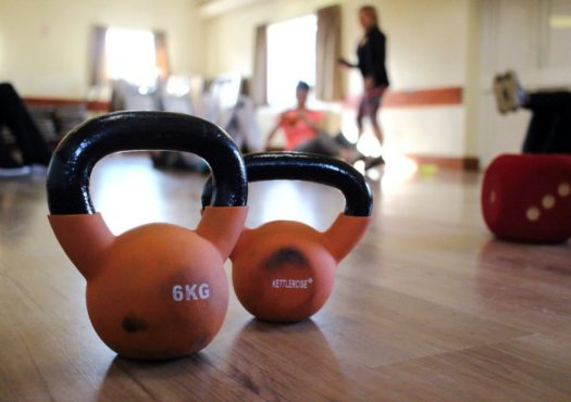 Picture of some kettlebells