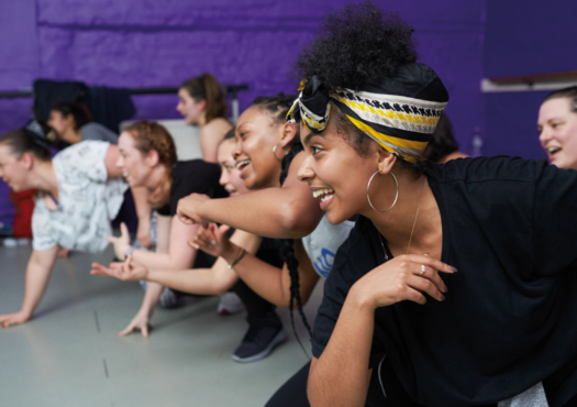 Women taking part in a dance exercise class
