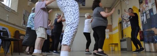 Line dancing at Minster
