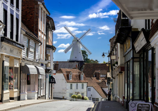 Cranbrook High Street and windmill