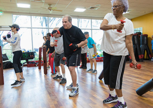 Exercise class for people with parkinsons